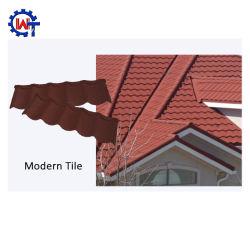 Pierre de couleur de type moderne recouvert de tuiles du toit de métal