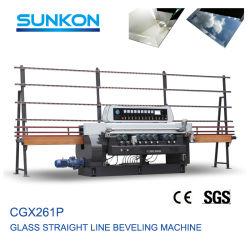 Grande fabricante profissional de qualidade Máquina biselada reta de vidro (CGX261P)