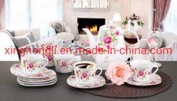 Insieme di tè del fiore 14PCS di Pouplar, insieme di pranzo quadrato della porcellana, padellame/Kithenware/articoli per la tavola, buona qualità e buon prezzo, Differnet Pakcaing