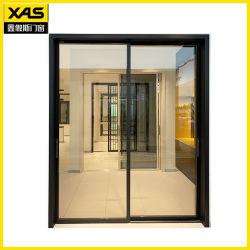 室内装飾Materionのための黒いアルミニウムスライドガラスドア
