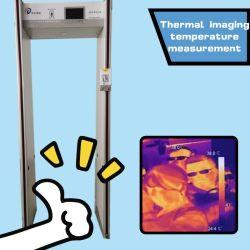 Themometryの金属探知器を通る歩行|赤外線画像の温度の測定