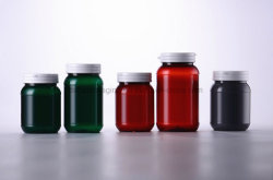Flasche, die Medizin-Plastikflasche des Haustier-200ml mit Kippen-Oberseite-Schutzkappe verpackt