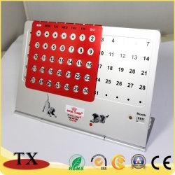 Mesa metálica permanente Calendario perpetuo con fecha y mes
