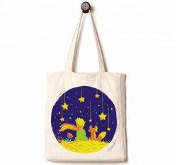 Полотно женская сумка, обычная Muslin Калико природных Custom для тяжелого режима работы Gusseted Canvas женская сумка с 100% биологически разлагаемое хлопок для школьных мешки, магазинов и рекламных мешок