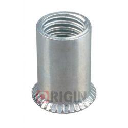 さら穴を開けられたヘッド円形ボディ開放端の通された挿入リベットのナット