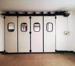 Manuel ou Automatique industrielle Panneau sandwich à isolation thermique de grande taille Bi porte pliante pour Fire Station Centre, station de métro, station de train à grande vitesse