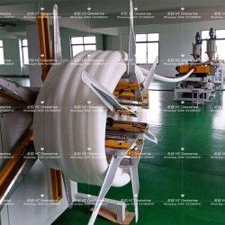 L'air frais en plastique souple conduit en carton ondulé double paroi/Tube/Ligne/d'extrusion de la conduite de la machine en plastique