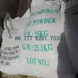 Le carbonate de baryum Poudre légère avec 25kgs ou 1000kg sac en plastique