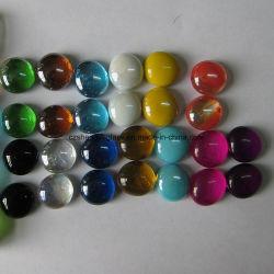 Freie Farben-Edelstein-flaches Glas-Marmore für Garten-Dekoration