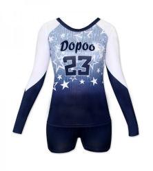 Sublimação de mulheres personalizados mangas longas Voleibol camisolas com números