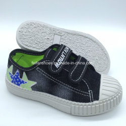 Настроенные детей ЭБУ системы впрыска повседневная обувь Canvas обувь обувь с Magic ленты (HH18512-9)