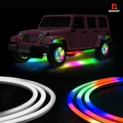 4PCS 31.5дюйма/80см Multi-Color LED Neon Flex газа фонари с APP контроллер Bluetooth