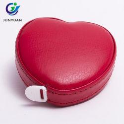 Оптовая торговля в форме сердечка провод фиолетового цвета кожи Custom Рулетка ленты в качестве рождественские подарки