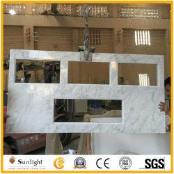 De beroeps past de Italiaanse Bovenkanten van de Ijdelheid van Carrara Witte Marmeren (aan met gezamenlijke rand)