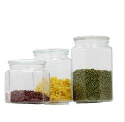 L'alimentation de stockage de verre pot avec couvercle hermétique Réservoir de stockage