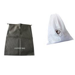 卸し売り再使用可能な非編まれた印刷されたドローストリングのホテルの洗濯袋か昇進環境に優しく安いNon-Woven旅行洗濯袋