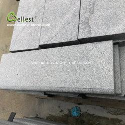 La pierre naturelle flammé terminer de granit gris Outdoor musoir Étapes
