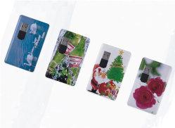 بطاقة ائتمان مطبوعة مخصصة USB Flash، توافق كامل مع USB 2.0 و3.0