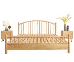 Cama King size de la plataforma de madera acabado roble cabecero/Estribo/listones de madera