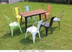 옥외 바 테이블 의자를 식사하는 옥외 가구 정원 커피용 탁자