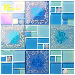 6mm Stärken-Shell-Kristallglas-Mosaik