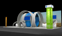Última aluminio personalizado Diseño de stand Stand Feria