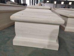 Funeral caixão de madeira para adulto, atacado Paulownia sólido cofre para venda