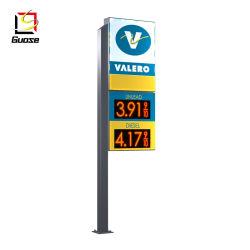 ガスステーションキャノピーステンレススチールガスステーションデジタルの費用 サイネージ・パイロン・デザイン