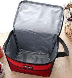 Sacchetto isolato all'ingrosso del dispositivo di raffreddamento del sacchetto della refezione del tessuto del pacchetto di ghiaccio