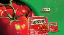 Doble Roja fresca pasta de tomate concentrado con la marca Bonvie
