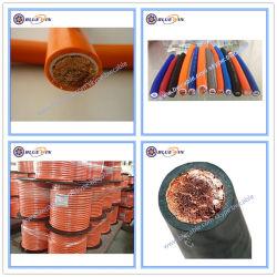 PVCアーク溶接ケーブル70mm2のゴムによって絶縁される電気指定の銅の地面CCA極度の適用範囲が広い機械ケーブルのオレンジ電源コードH01n2-E H01n2-D