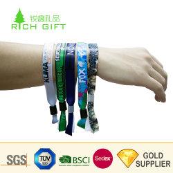 Amostra grátis barato elásticas Personalizadas Tecido de malha de nylon pulseiras banda para eventos