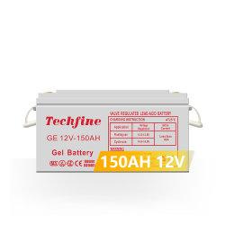 Weit verbreitete 12V 150ah Blei-Säure-Gel-Batterie für Elektro Leistung