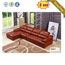 2021 Últimas Dedigns seccional de su casa a través de la esquina en forma de L sillón reclinable de cuero auténtico Sofá Muebles de salón sofá