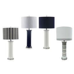 실내 홈 디자인 현대적인 세라믹 테이블 램프 테이블 포첼랭 도자기 램프 펜던트 램프
