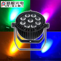 Etapa de la luz de fiesta al aire libre 50 par 9 LED 15W RGBWA+UV 6en1 resistente al agua de alta potencia de luz LED PAR