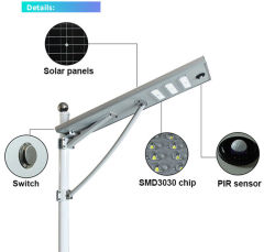 30W 60W 90W 120W 솔라 스트리트 램프 통합형 솔라 LED 가로등 모두 하나의 솔라 스트리트 램프