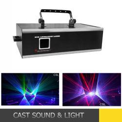 Laser esterno di animazione 10W RGB di colore completo di potere di Hight