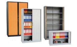 Шкаф для хранения файлов офисного оборудования ПВХ Tambour двери шкафа электроавтоматики