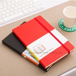 高品質のMoleskineの堅いカバーはオフィスのためのノート、PUの薄紙表紙のノート及び学校を支配した