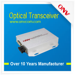 1-CH DVI Otpcial transceptor, DVI Ethernet de datos de audio