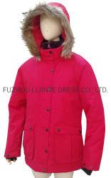 Chaqueta impermeable moda duradera Stand Collar con el Tricot forro para un ajuste cómodo