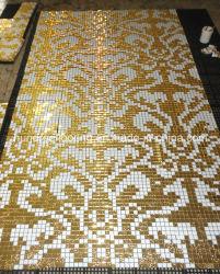 Gouden Mozaïek, de Tegel van de Muur van het Mozaïek van de Kunst van het Mozaïek van het Patroon (HMP648)