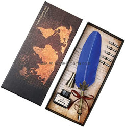 Paquet cadeau Yihuale style Vintage Plume d'oie Quill pen