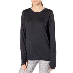 Logo personnalisé Style décontracté à manchon long 100% Coton T-shirt femme