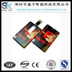 Negocio Regalo de Navidad Popular memoria USB de tarjetas de crédito