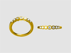 Nieuwe 3D Vormen 925 van het Ontwerp de de de Zilveren Halsband/Ring/Oorring van de Juwelen van de Juwelen van de Manier