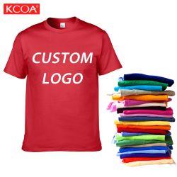 L'été 150gsm col rond rouge promotionnelles T-shirt personnalisé pour les hommes