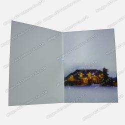 깜박이는 LED가 있는 축하 카드, 휴일 카드