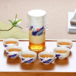 Blau & Weiß Porzellan Glas Tee-Set Kungfu Keramik Tee Topf Set Porzellan Geschenk Tee-Set